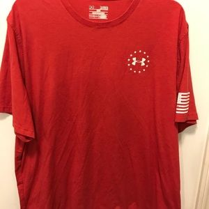 End under Armour Heat Gear wounded warrior shirt